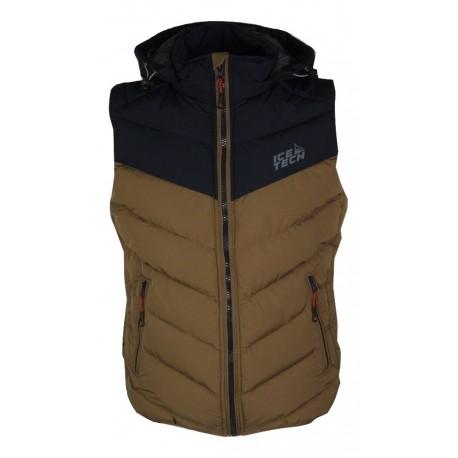 Ice tech winter vest G825 navy/mustard