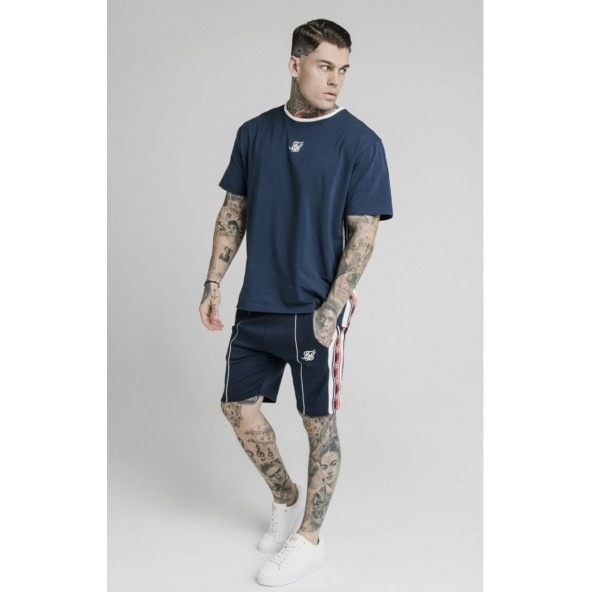 SikSilk ss-17036 S / S Essential Retro Tape Tee