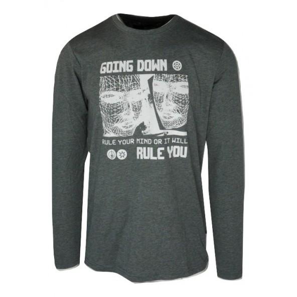 Solid 21104520 798236 μπλούζα grey mel