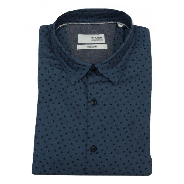 Solid 21104460 791350 shirt indigo