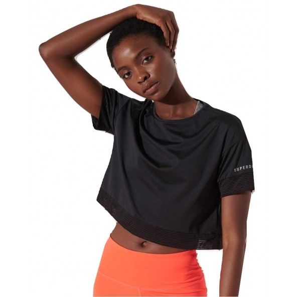 Superdry WS310207A 02A Trainning crop tee