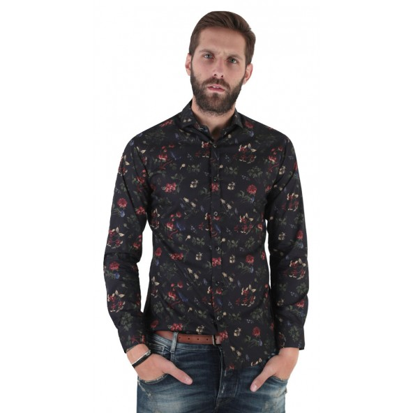 Stefan 9033-F/W 21 shirt black