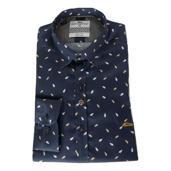 Dario Beltran 6LTG CAMPEZO 690 πουκαμισο BLUE NAVY