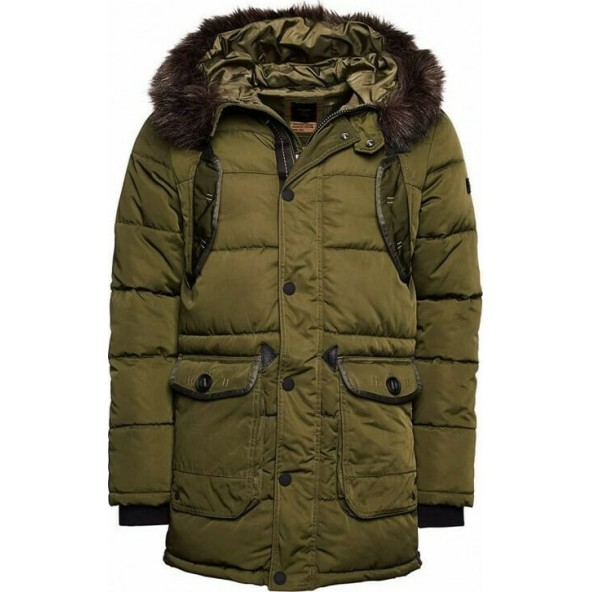 Superdry M5010346A 030 CHINOOK PARKA KHAKI