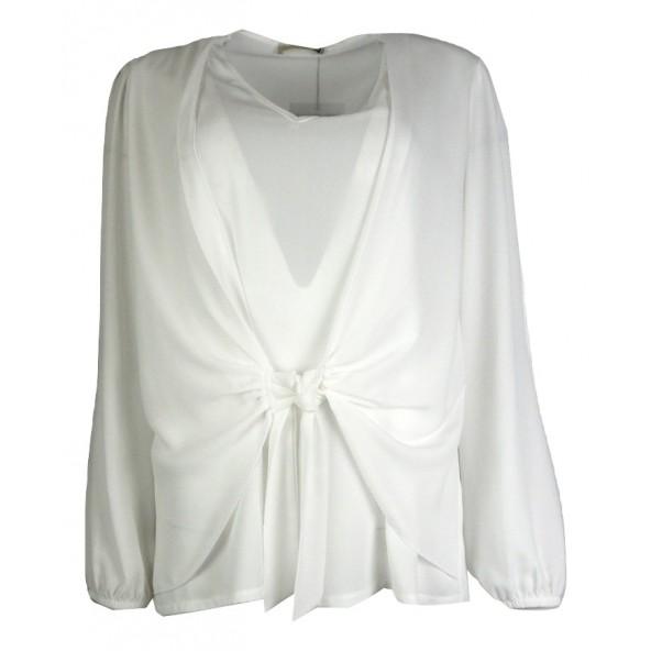 Queen Fashion 200559 Πουκαμίσα Λευκό
