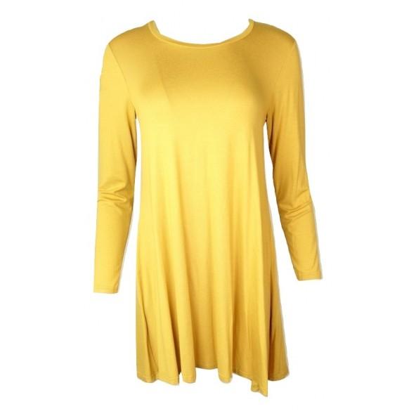 Christiana G 236 μπλουζοφορεμα κιτρινο