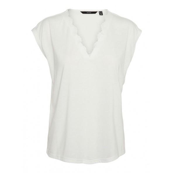 Vero moda 10247681 t-shirt λευκο