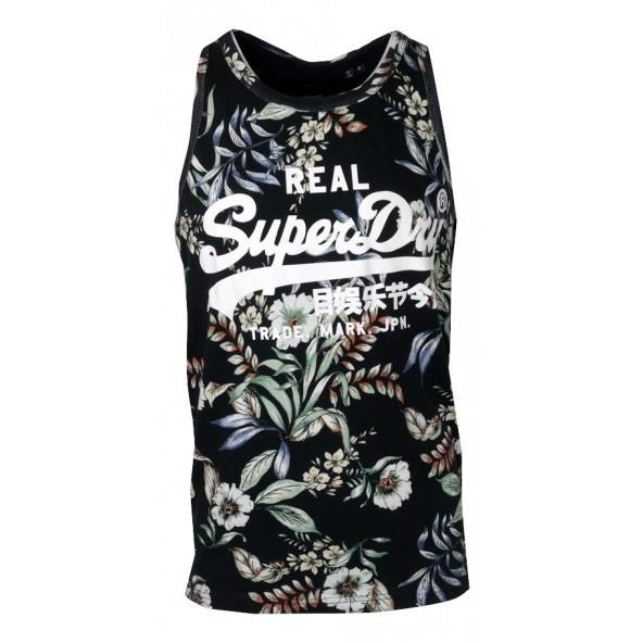 Superdry Μ6010458A μπλούζα αμάνικη μαύρη