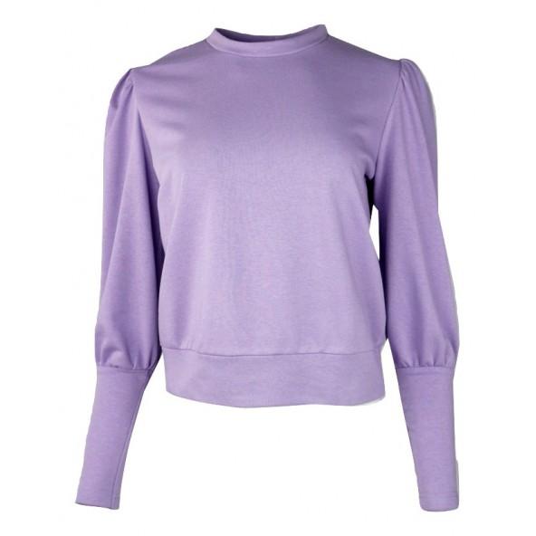 Desiree 17.34008 φουτερ μπλουζα με μανσετες λιλα