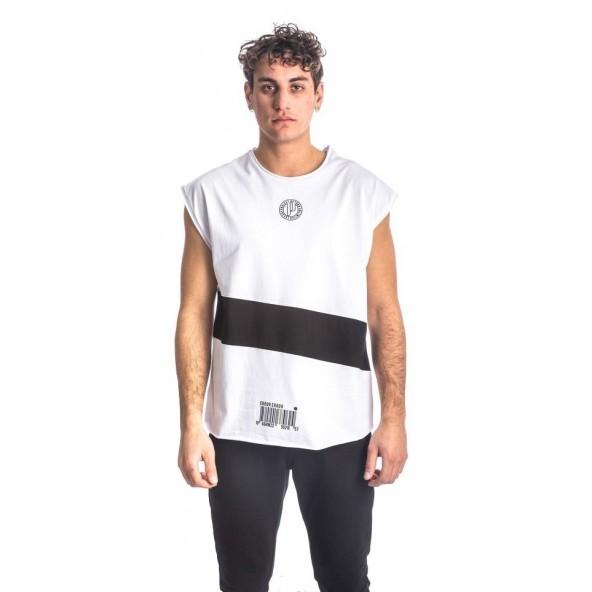 Paco 213539 μπλούζα αμάνικη άσπρη