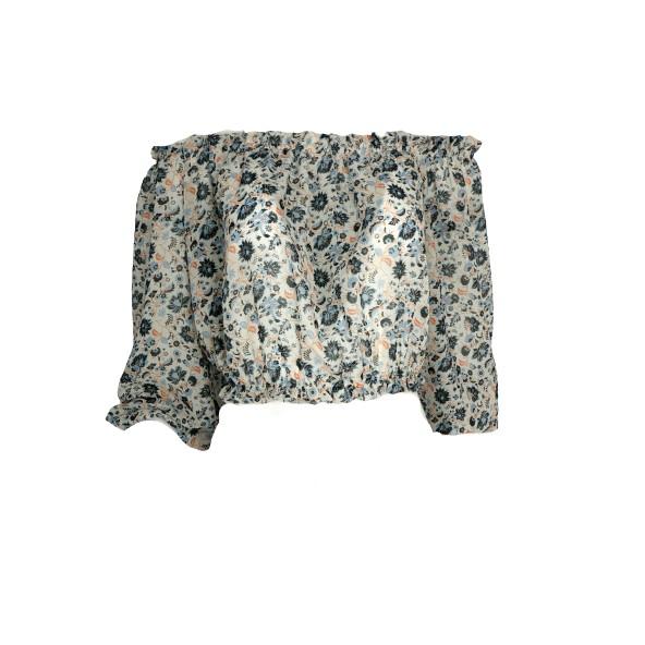 Desiree 17.34021 Έξωμη φλοραλ μπλούζα