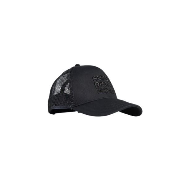 Superdry M9010020A 02A logo trycker cap black