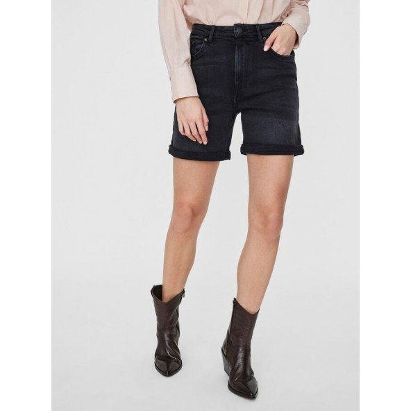 Vero moda 10241954 HIGH WAIST MOM SHORTS black