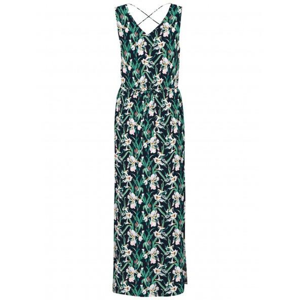 Vero moda 10250324 navy Φόρεμα curve