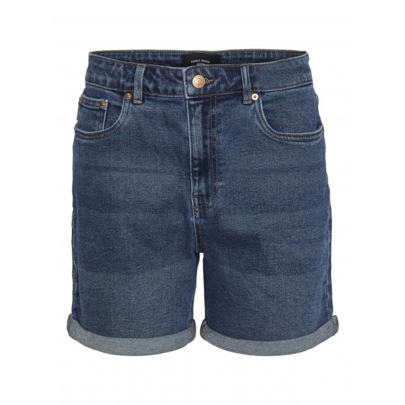 Vero moda 10247726 medium blue mom shorts curve