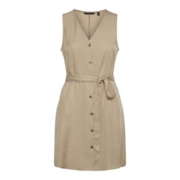Vero moda 10198244 O-NECKLINE MINI DRESS Ivy Green