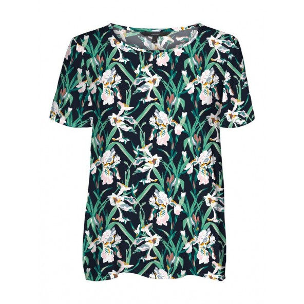 Vero moda 10250327 PRINTED TOP blue navy