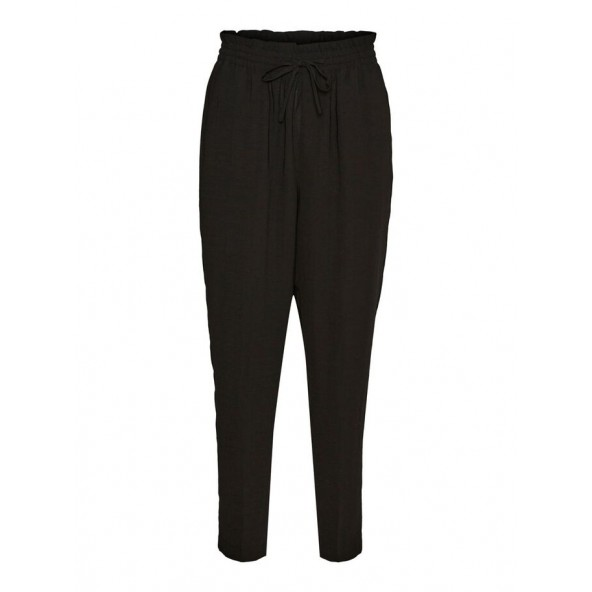 Vero moda 10253678 HIGH WAISTED TROUSERS Μαυρο
