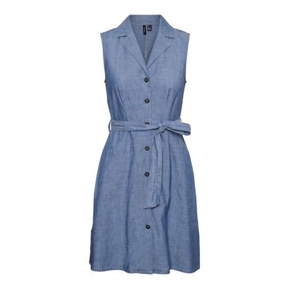 Vero moda 10244742 CHAMBRAY SHORT DRESS GA DENIM