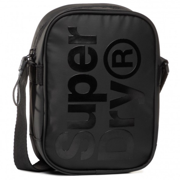 Superdry side bag Μ9100022Α τσαντάκι μαύρο