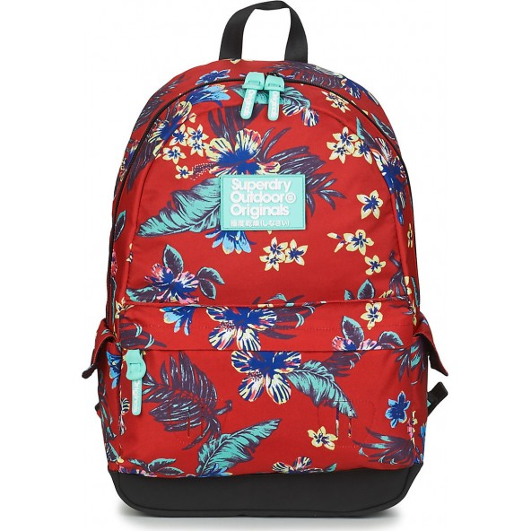 Superdry hawaiin montana W9110130A 51L τσάντα κόκκινη