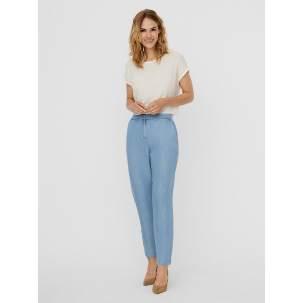 Vero moda 10242263 MR TAP ANKLE PANT LT DENIM BLUE