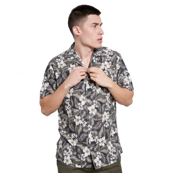 Funky Budha FBM003-048-05 πουκάμισο Χακί