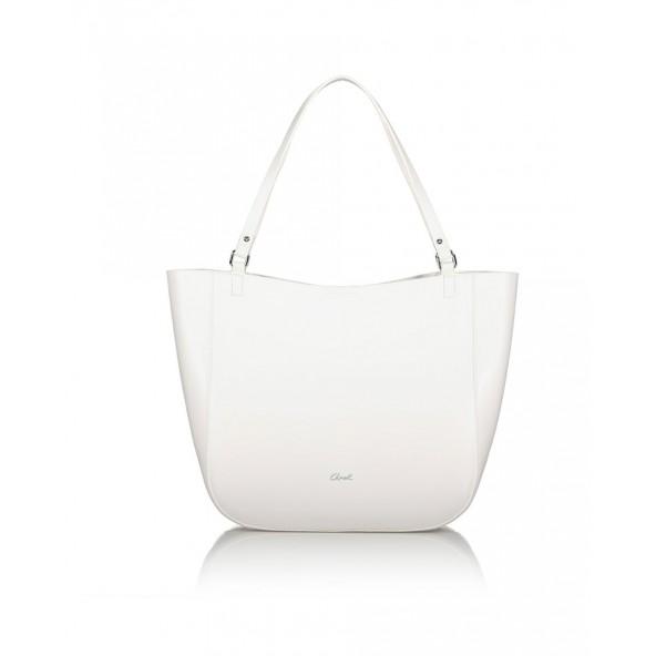 Axel 1010-2594 037 Axel Faye Γυναικεία Τσάντα Shopper 'Ωμου σε Λευκό χρώμα