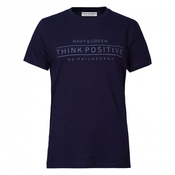 NAVY AND GREEN 24TU.201/1P T-shirt MD BLUE