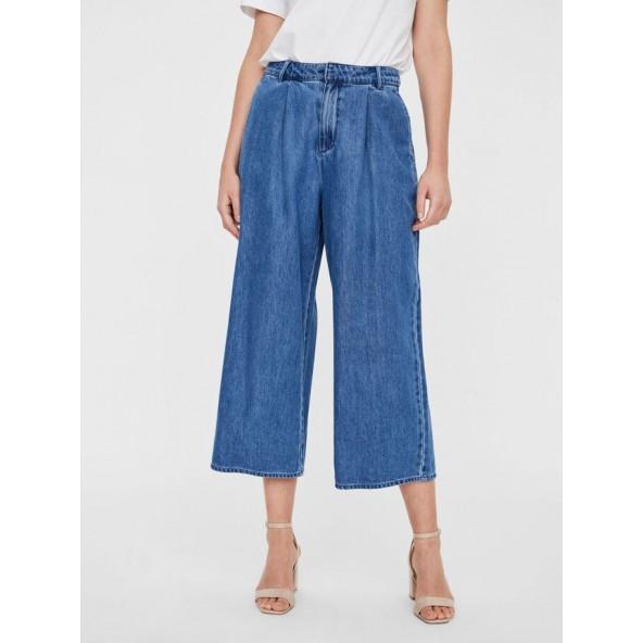 Vero moda 10248145 culotte denim pants medium blue denim