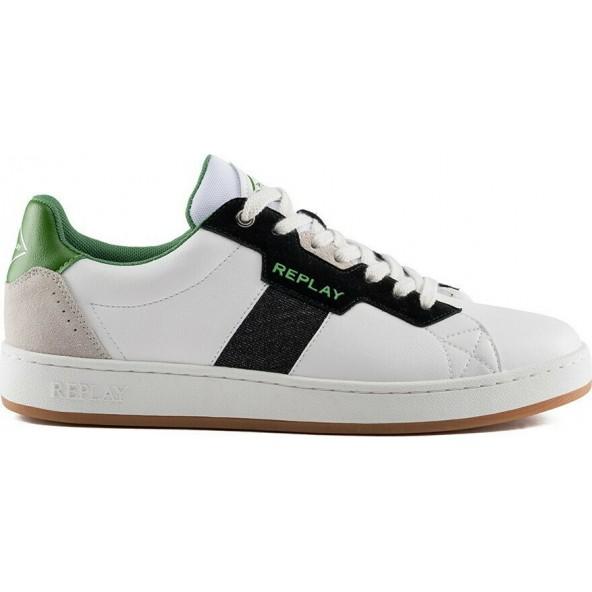 Replay rz2v0005s sneaker white black green