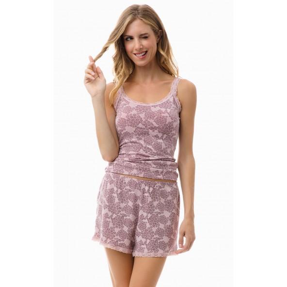 Minerva 81845-643 Σόρτς daisy pink-bord