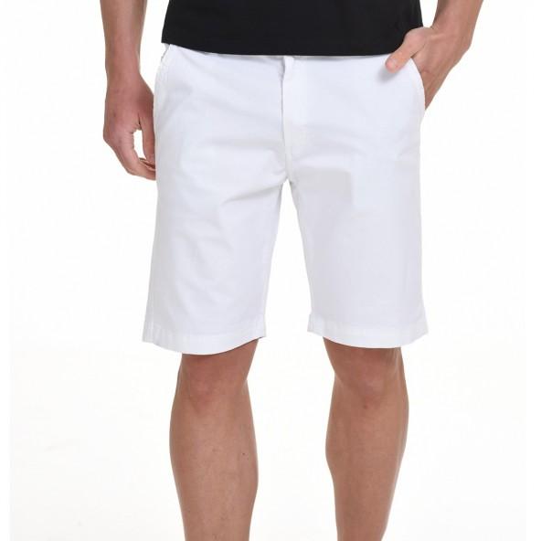 Biston 45-221-005 βερμούδα chinos λευκή