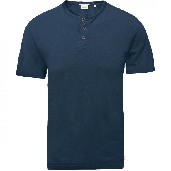 Double TS-152A T-Shirts Henley MD Navy