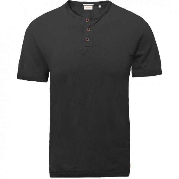 Double TS-152A T-Shirts Henley MD Black