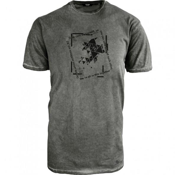 Double TS-169A T-Shirt Washed Effect KHAKI