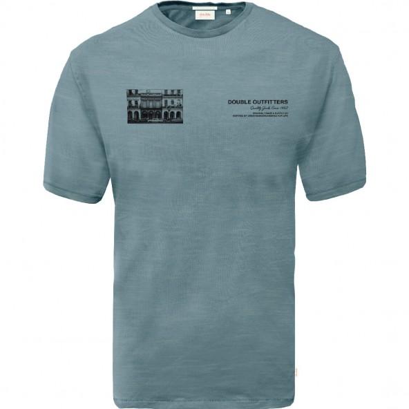 Double TS-168A T-Shirt Graphic Print Lt. Blue
