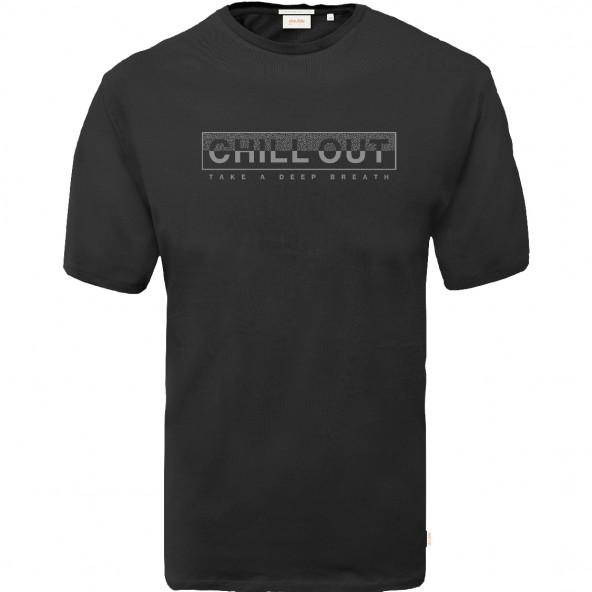 Double TS-166A T-Shirt Graphic Print black