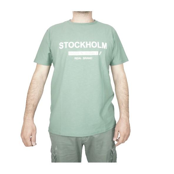 The real brand 06-451 t-shirt dark green