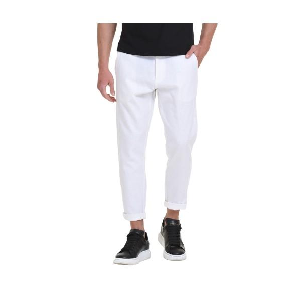 Splendid 45-241-001 παντελόνι λινό λευκό