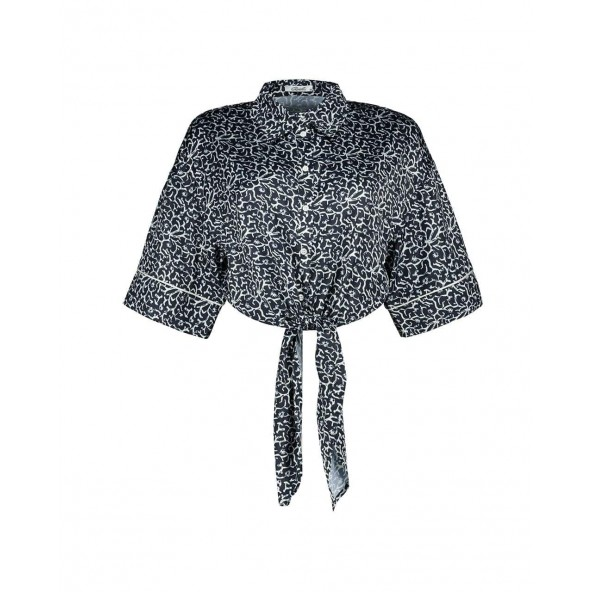 Axel 1405-0241 068 CROP SHIRT WITH TIE AT WAIST