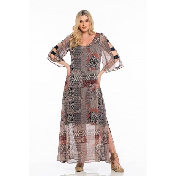 Ossigeno 211.906500 φόρεμα εμπριμέ