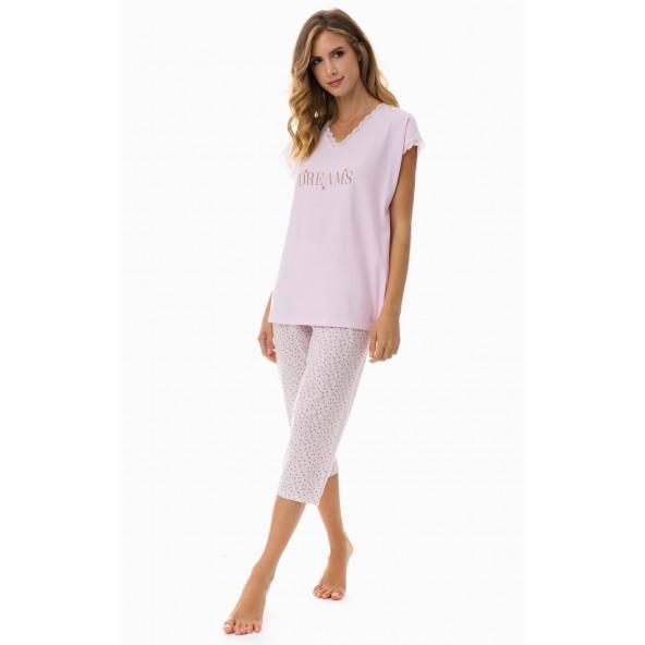 MINERVA 51962-157 πιτζάμα ροζ
