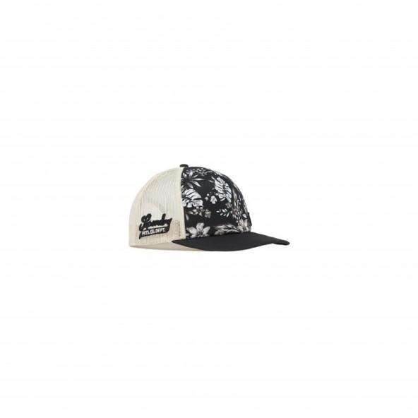 Superdry W9010103A 4HA CALI PRINT TRUCKER CAP BLACK HAWAIIAN
