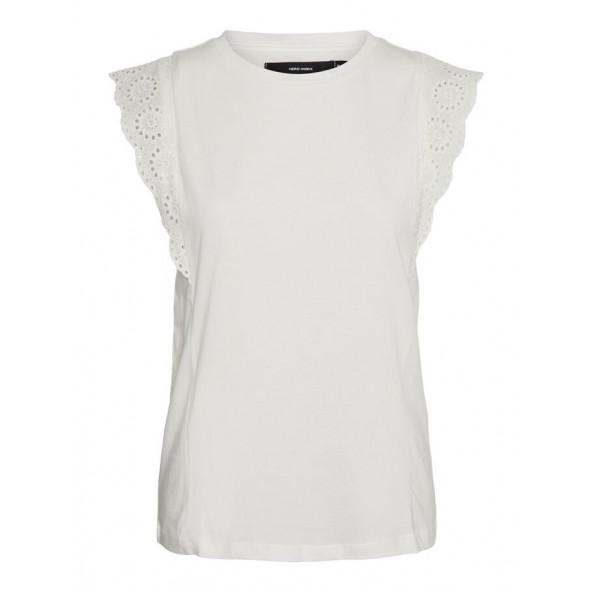Vero moda 10250297 HOLLYN TOP SNOW WHITE