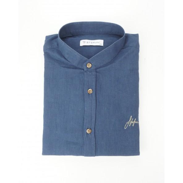 Stefan 9036 -s/s 21 shirt μπλε
