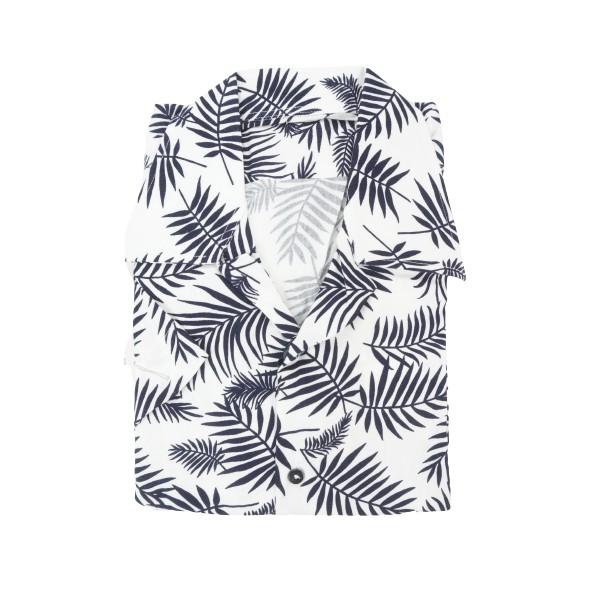 D'Zine Filis D-2281 πουκάμισο λευκό floral