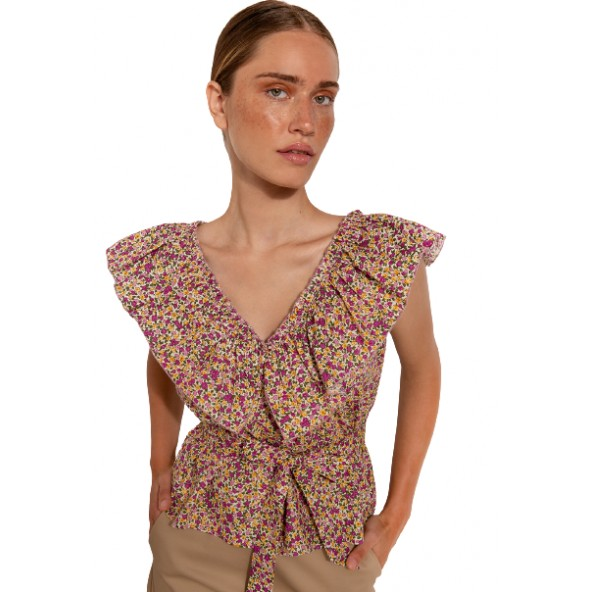 Desiree 17.34089 μπλούζα εμπριμέ φούξια