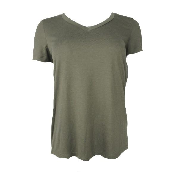 Vero moda 10191891 t-shirt vmspicy V-neck ss ivy green