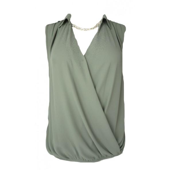 Lynne 146-510007 μπλούζα χακί